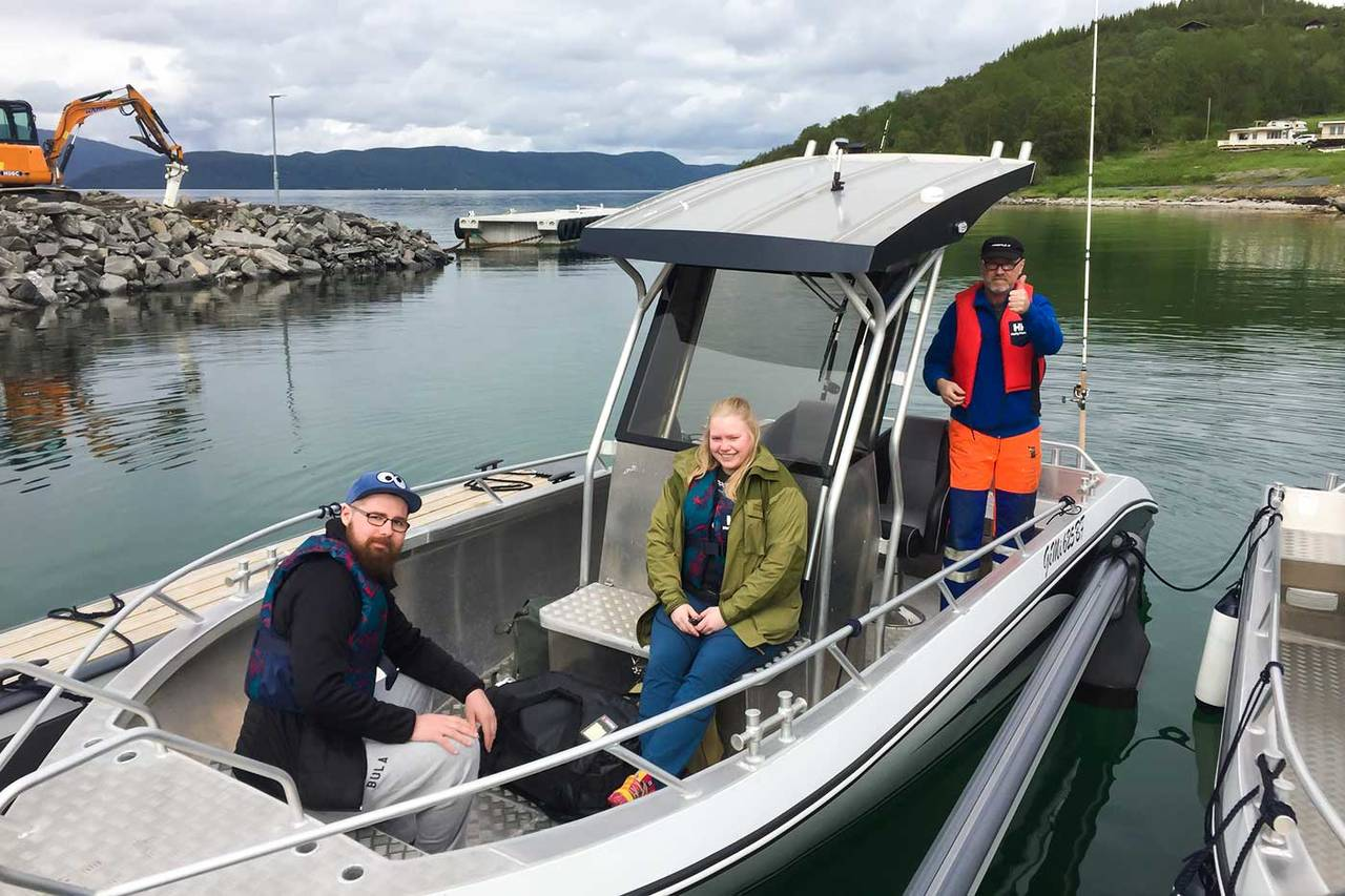 Ready for deep sea fishing at Camp Solbergfjord.
